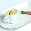 Soup for a starter served in a mug