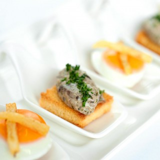 Bitesize food for a corporate event.