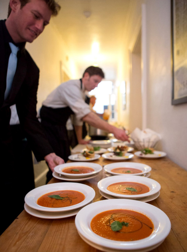 Photo of the starters ready to be served at a corporate event.