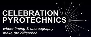 Logo for Celebration Pyrotechnics.