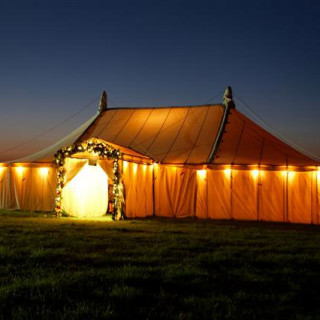 Photo of a wedding venue Beetham food have catered at; Newdowns Farm.